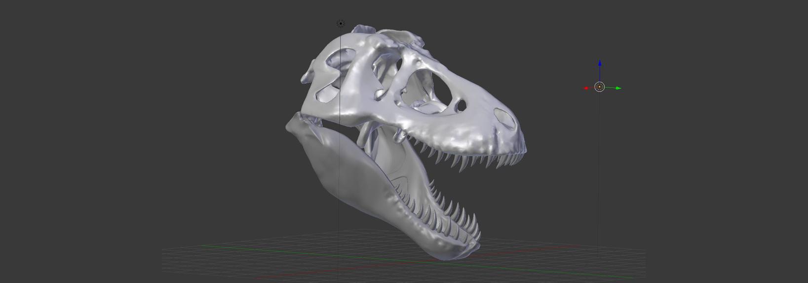 Mein nächstes Projekt: T-Rex Schädel für die Wand