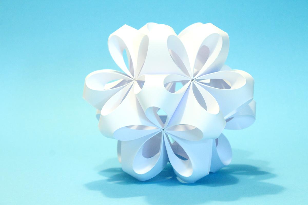 Ikosaeder aus Papier