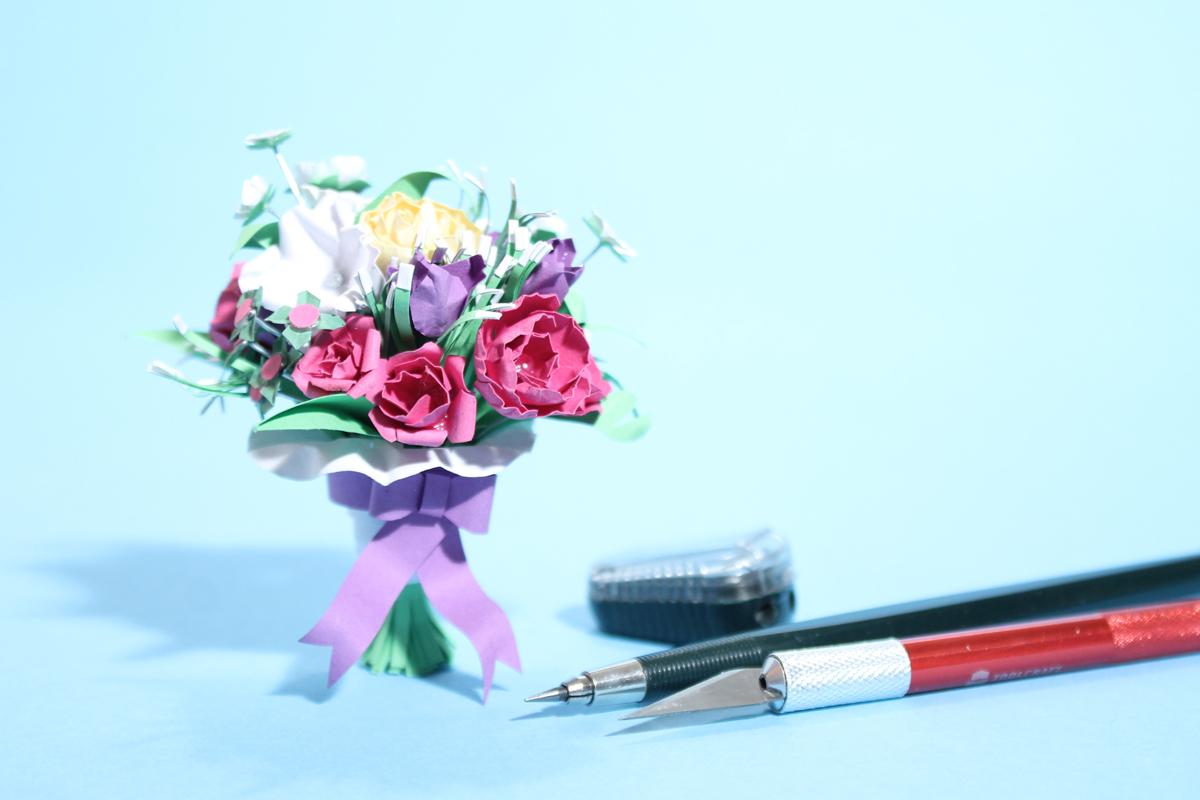 Miniatur Blumenstrauß