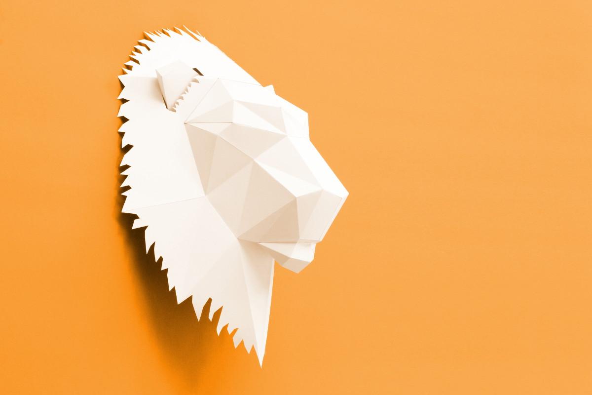 Löwe nun als Digital Download auf Etsy Verfügbar