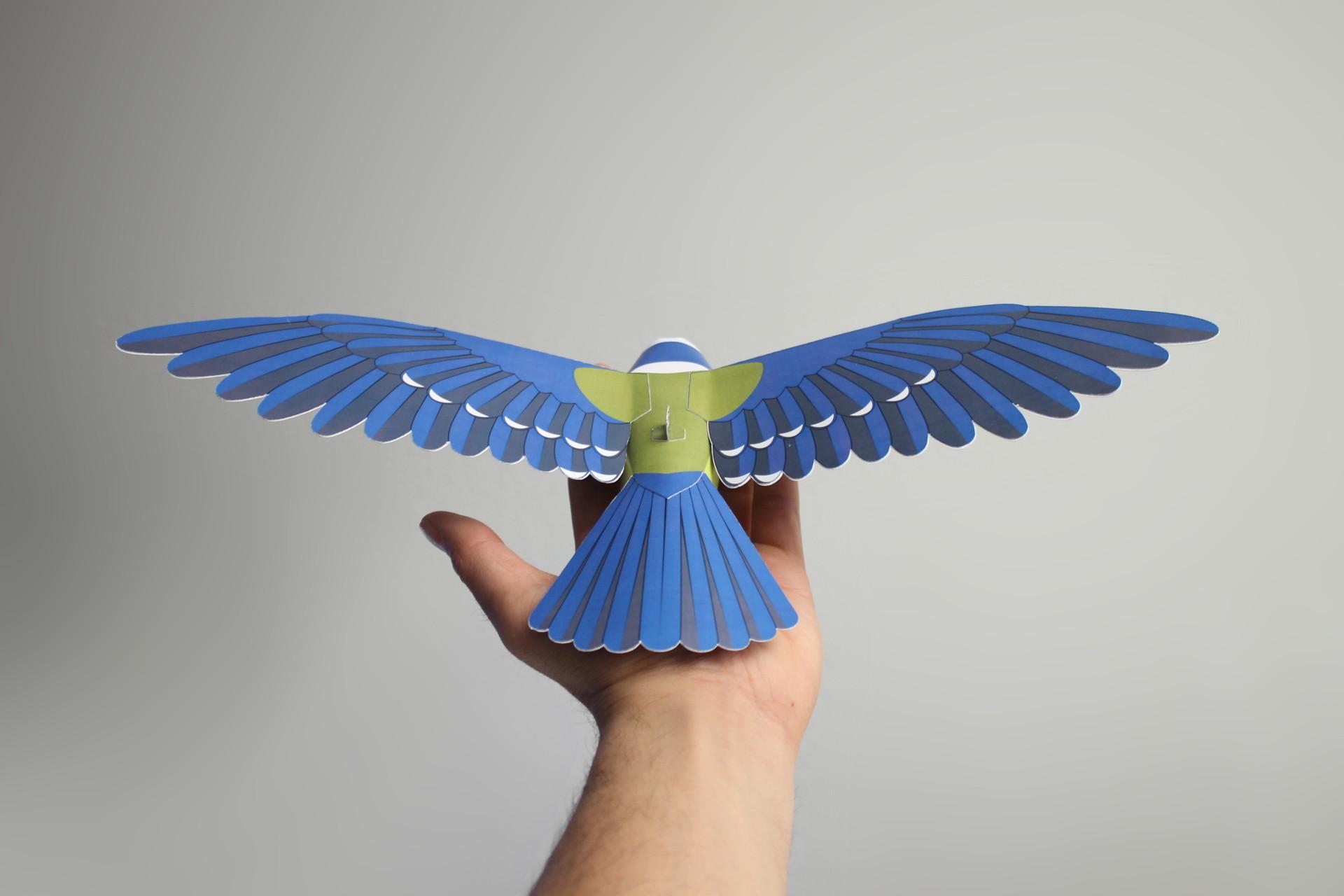 Blaumeise aus Papier