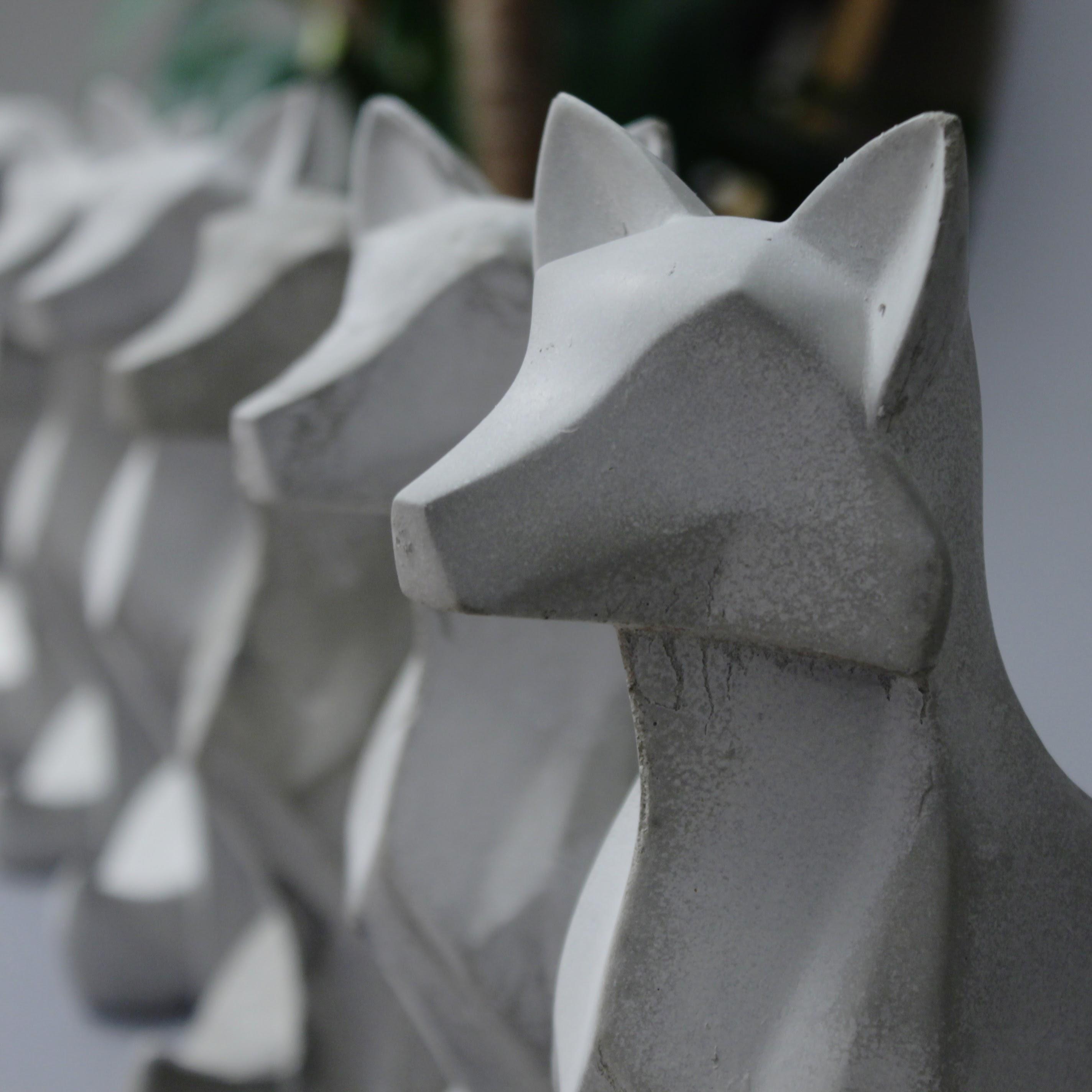 Fuchs in Beton